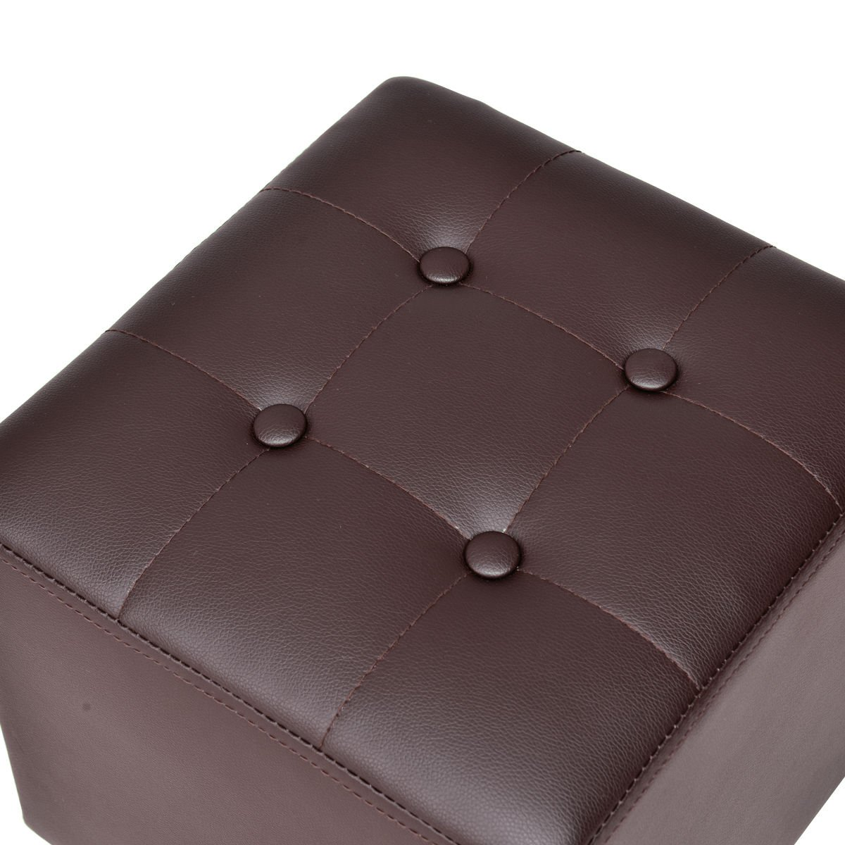 Giantex Accent Armchair Club Seat PU Leather Barrel Tub Tufted Modern Living Room Chair with Cushion and Ottoman (Coffee)
