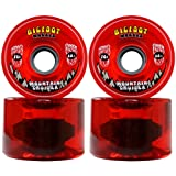 Bigfoot Longboard Wheels 76mm 80A SHR Mountain Cruisers Translucent Red