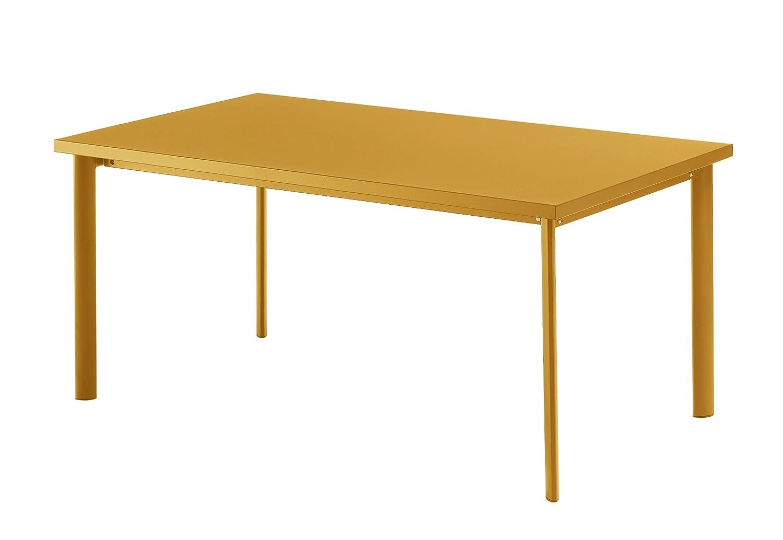 Emu 303076800 Star Tisch 307, 90 x 160 cm, pulverbeschichteter Stahl, orange