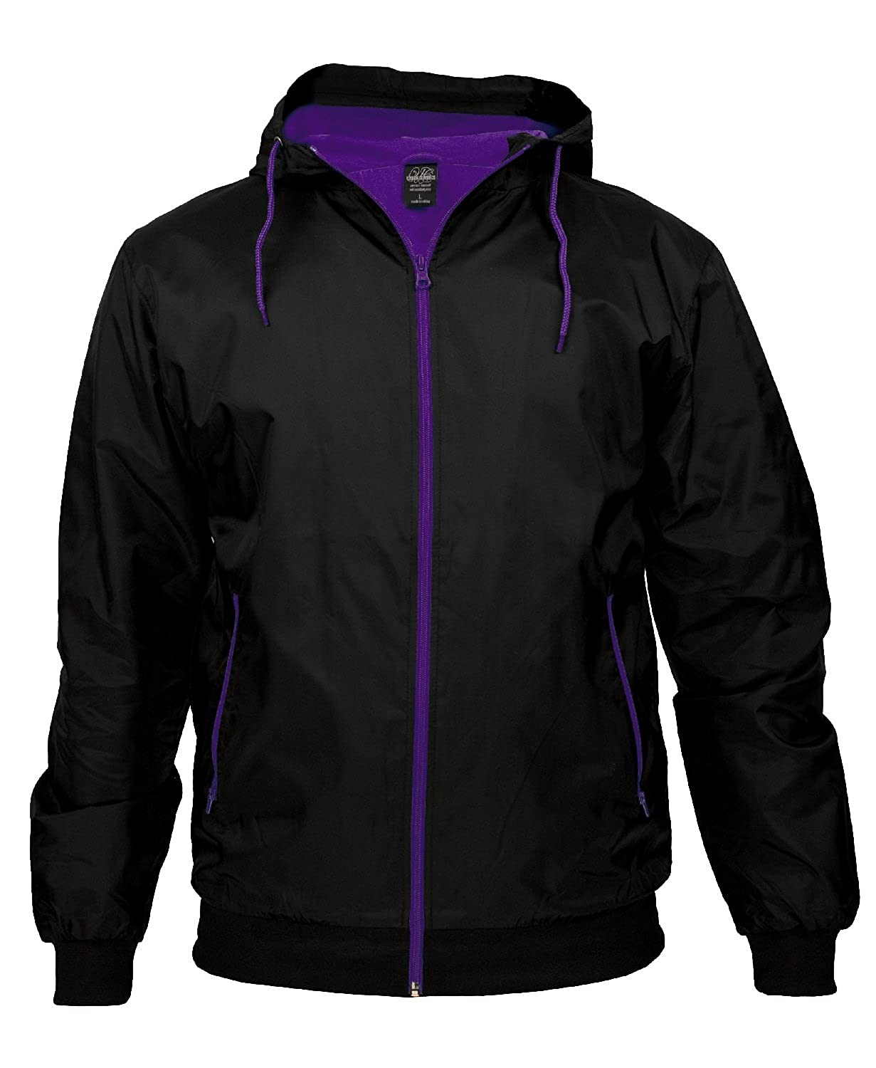 "Urban : ""Contrast Windrunner"" Size: L, Color: black-purple …TB147 bestellen"