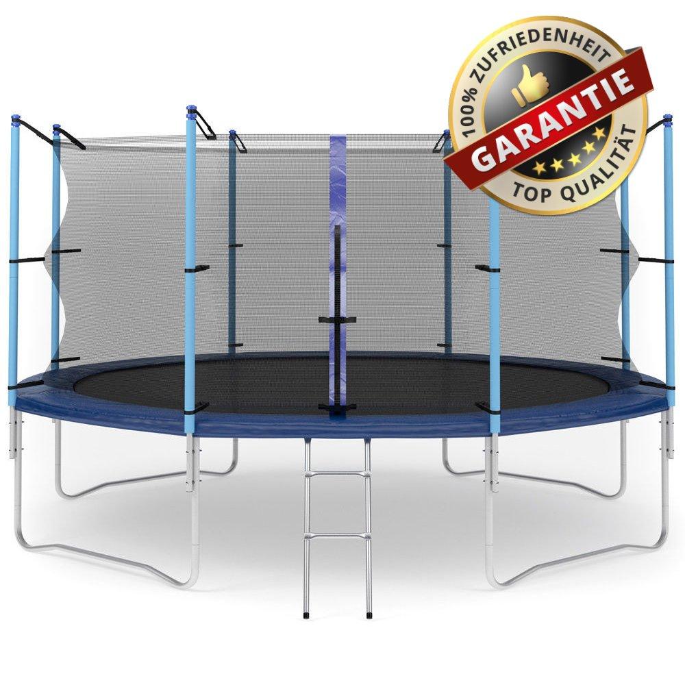 Hop-Sport Gartentrampolin 430 cm Komplettset mit Sicherheitsnetz und Leiter Innennetz günstig online kaufen