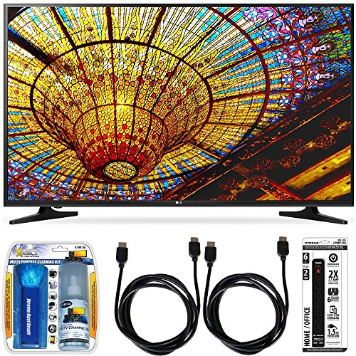 New LG 50UH5500 - 50-Inch 4K Ultra HD Smart LED TV w/ webOS 3.0 Accessory Bundle includes TV, Screen...
