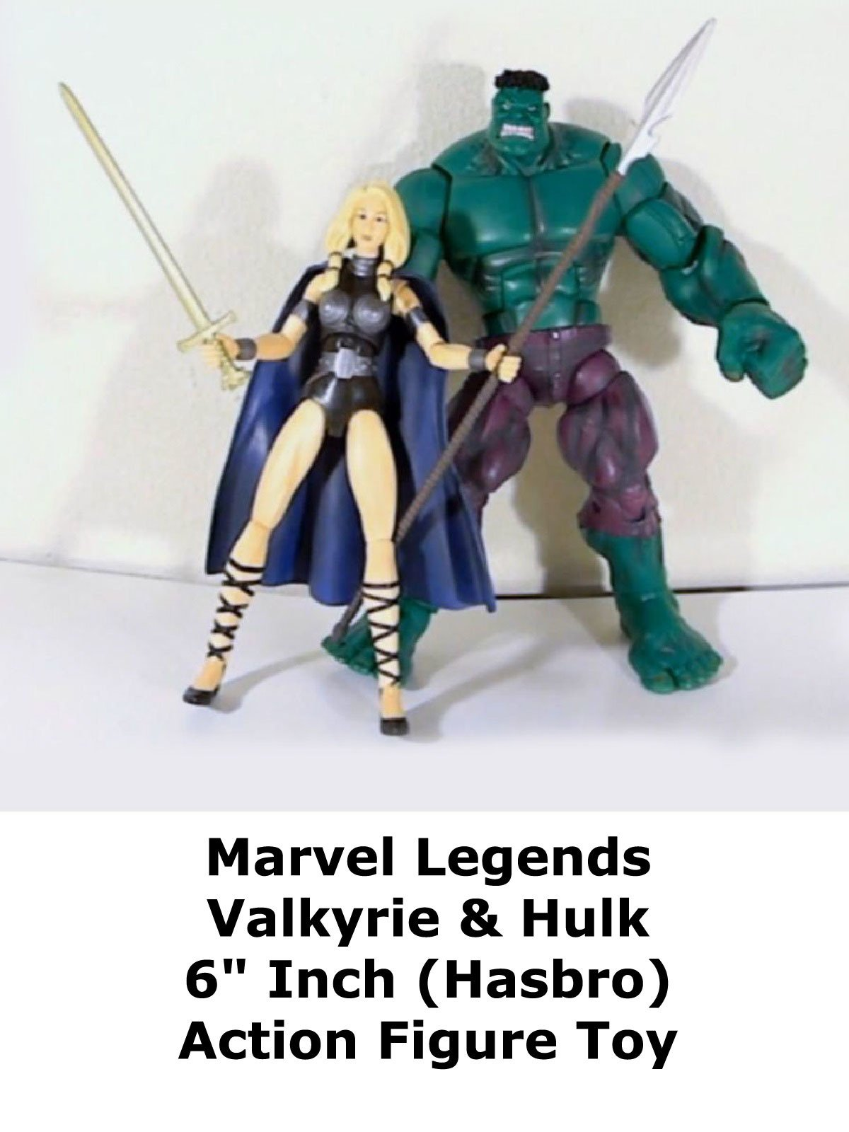 "Review: Marvel Legends Valkyrie & Hulk 6"" Inch (Hasbro) Action Figure Toy"