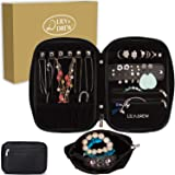 Lily & Drew Travel Jewelry Storage Carrying Case Jewelry Organizer with Removable Pouch, in Gift Box (V1B Black) (Color: V1b Black, Tamaño: Jewelry Only)