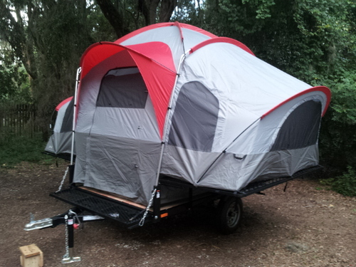 Amazon Com Lifetime Deluxe Tent Trailer Kit Grey Red