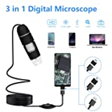 USB Microscope, Skybasic 50X to 1000X Digital Microscope 8 LED 1080P 2.0 Megapixels USB 2.0 Handheld Magnification Endoscope Compatible with Android M