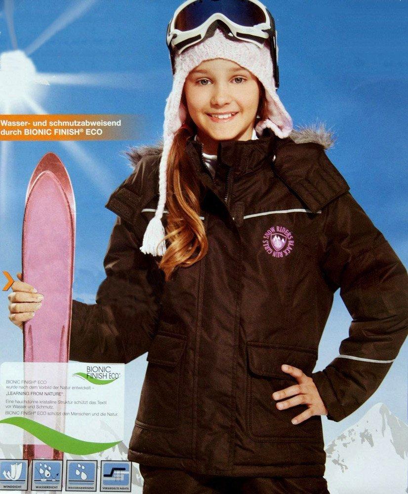 Mädchen Skijacke mit Kapuze Schneejacke Winterjacke 146/152 Braun bestellen