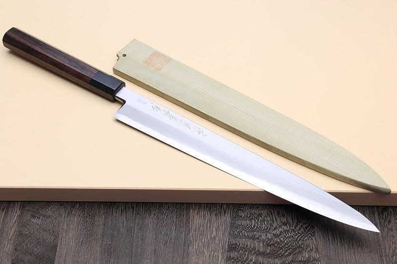 Yoshihiro Blue Steel Hongasumi Yanagi Sushi Knife via Amazon