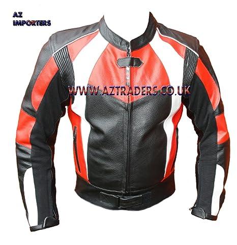 Az Ce Armour Veste en cuir pour moto en cuir de vache de haute qualité, disponible dans tout Size's