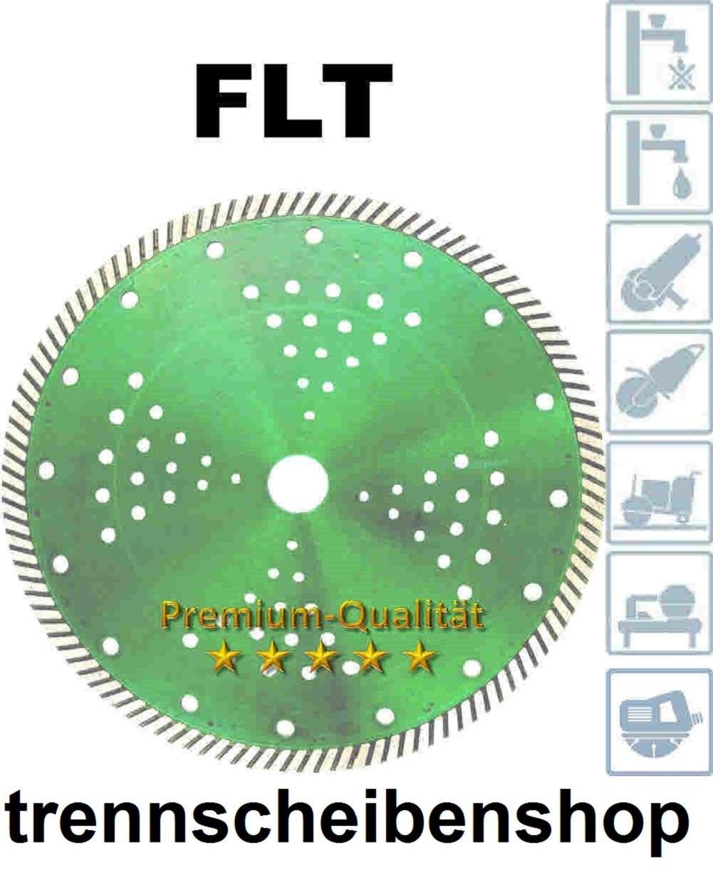 FLT_SUPER Diamanttrennscheibe Ø 350 mm. Bohrung Ø 25,4 mm. Premium. Geschlossenen Turbo Schneidrand 12 mm. Extrem Dünn. Schneidet Stahlbeton, Gußrohr, Granit, Feinsteinzeug, Keramik, glasierte Klinker, harte Bodenfliesen etc  BaumarktBewertungen und Beschreibung
