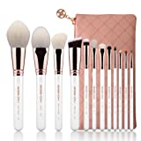 Makeup Brushes 12pcs Professional Cosmetic Brushes,Eigshow Limited Edition Foundation Powder Contour Blush Cosmetic Eye Brush Sets With Luxury Cosmetic Bag (Color: 12 pcs set)