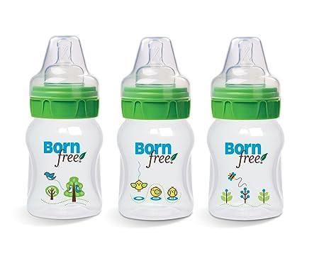 地球上最好奶瓶之一——Born Free 宽口径彩绘奶瓶5盎司(160ml)3只装,历史最低价$11.14(PP材质无BPA,到手价格约40元每只)