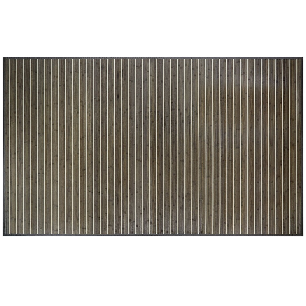 "Venice Natural Bamboo 5 X 8 (60""x96"") Floor Mat, Bamboo Area Rug Indoor Carpet, Rustic Grey Color Finish, Non Skid Backing, Floor Runner Mat Living room, Hallway, Kitchen, Office"