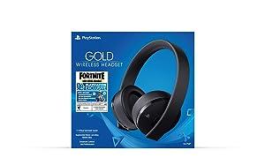 PlayStation Gold Wireless Headset Fortnite - PlayStation 4 (Color: Fortnite Black)