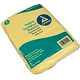 Dynarex Isolation Gown Fluid Resistant Universal, Yellow 10/5/Cs (Color: Yellow, Tamaño: Universal)