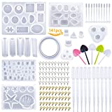 Resin Molds, YOKLILI 16 Pack Resin Jewelry Silicone Casting Molds with Tools Set for DIY Jewelry Craft Making, Including Pendant, Bracelet, Earring and Diamond Molds