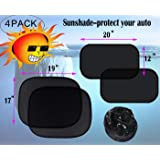 Dreambuilder Car Sun Shade Side Rear Window ï¼?4Packï¼?-80 GSM Car Sunshade Protector - Blocks over 98% harmful UV Rays-Protect your car fro