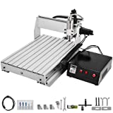 VEVOR CNC Router 6040 3 Axis CNC Router Machine 600x400mm CNC Router Kit 1000W MACH3 Control Large 3D Engraving Machine CNC Router Kit with USB(6040 3 Axis with USB) (Color: 1000W/3 Axis, Tamaño: 600X400MM/3 Axis)