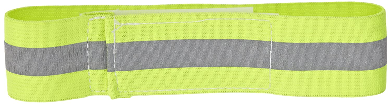 Mutual 14509 Reflective Elastic Armband with Velcro Closure, 15 Length x 1-1/2 Width, Lime zgpax s99 mtk6580 quad core 3g smart watch phone android 5 1 8gb rom 5 0 mp camera gps wifi pedometer heart rate smartwatches
