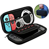 Carry Cases for Nintendo Switch Travel Pouch for Nintendo Switch with 10 Game Cartridge Holders,EVA Protective Shell