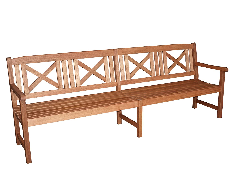 Landhausbank GRENADA 4-sitzer, Breite 243cm, Eukalyptus geölt, FSC®-zertifiziert günstig
