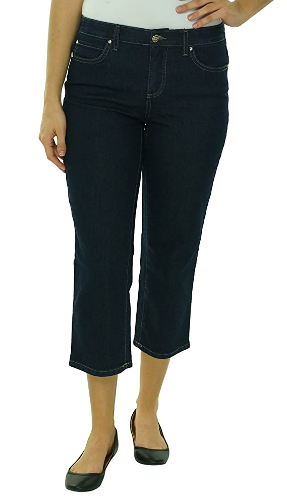 JM Collection Women's Straight Leg Capri Jeans