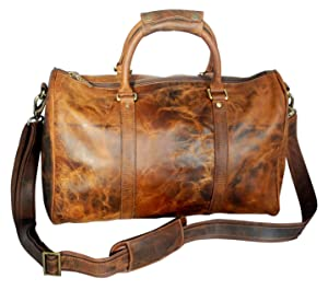 Leather Duffel Bags For Men - Airplane Underseat Carry On Luggage By  RusticTown (Color  Brown fd06269179151