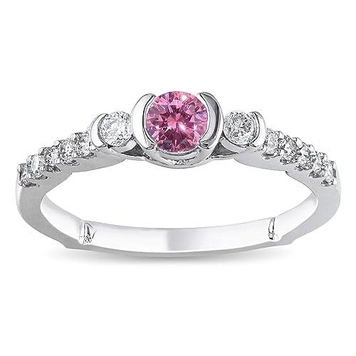 Pink Diamond Wedding Rings