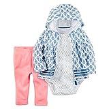 Carter's Baby Girls' 3 Piece Cardigan Set (24 months, blue flowers/pink)