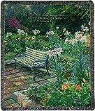 "Manual Tapestry Throw, Thomas Kinkade Eternal Springtime Proverbs 3:6, 50 x 60"""