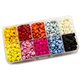 Summer-Ray 1000 pcs 6mm Multi Colored 2 Eye Buttons in Storage Box (Color: Multi, Tamaño: 6mm)