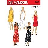 New Look Sewing Pattern 6866 Misses Dresses, Size A (S-M-L-XL) (Color: Original Version, Tamaño: A (S-M-L-XL))