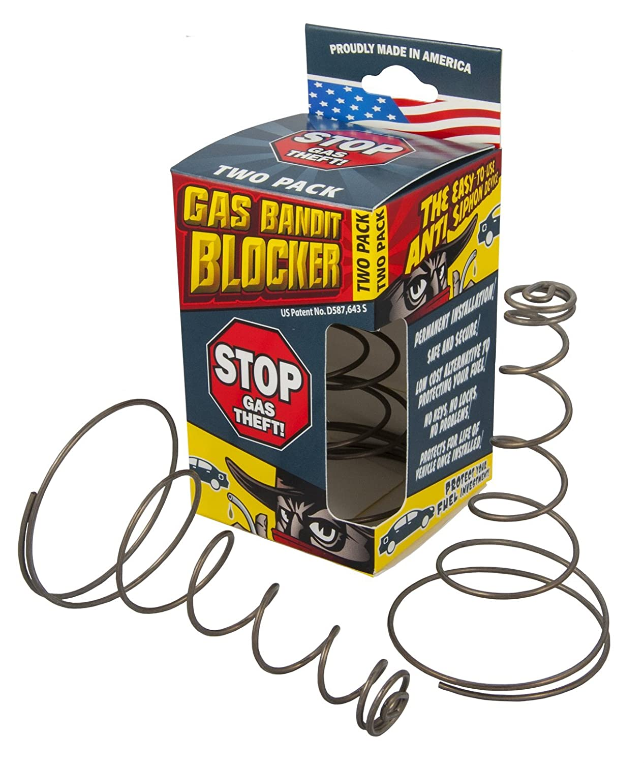 Stanco Gas Bandit Blocker - Fuel Anti-Siphon Device 2-Pack