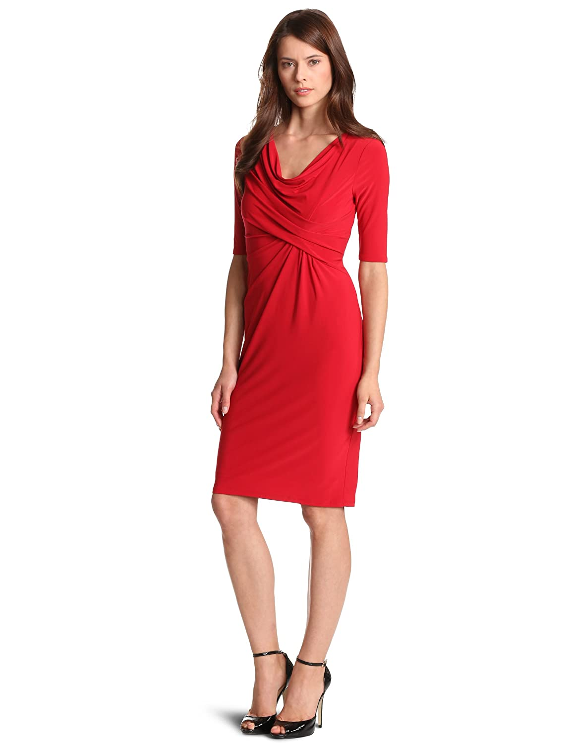 D-shopz: Jones New York Women's Mj Cowl Draped Dress
