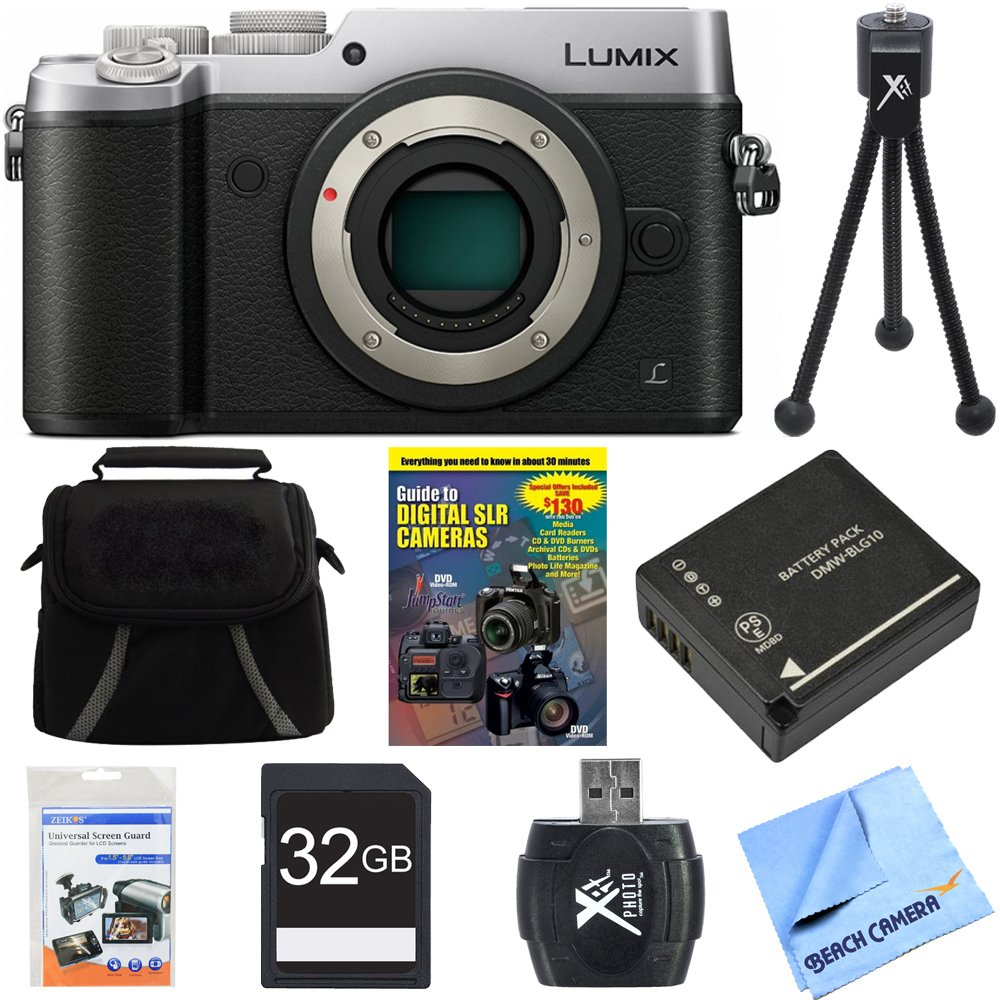 Panasonic DMC-GX8SBODY LUMIX GX8 4K Interchangeable Lens Camera Body Bundle includes DMC-GX8SBODY LUMIX GX8 4K Camera, Gadget Bag, Training Guide DVD ..