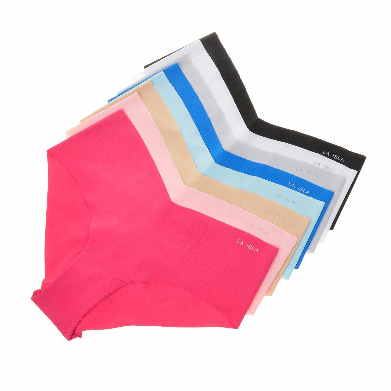 La Isla Damen 6er Pack Slip Nahtlos Shape Soft Hüftslip Low Cut Pant