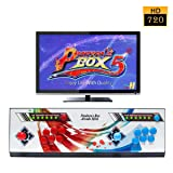 Wisamic Real Pandora's Box 5 Arcade Video Game Console with Customized Buttons, 1280x720 Full HD, Upgraded CPU, etc Support PS3 PC TV 2 Players, No Games Included (6 Buttons)