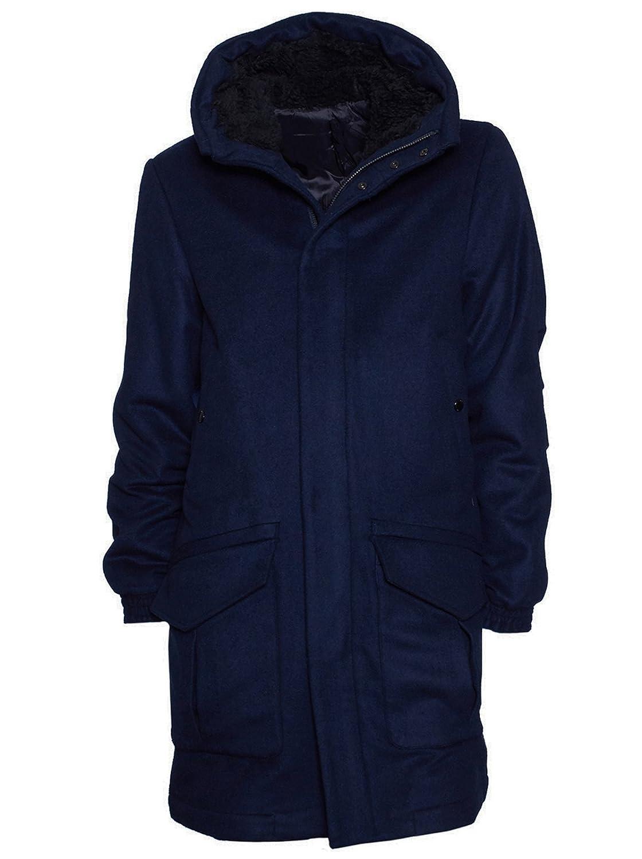 Uniforms for the dedicated Herren Parker Mantel Winter Wintermantel Orwell Kaschmir dunkelblau günstig online kaufen