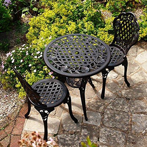 ROSE Set da bistrot con tavolino di metallo e due sedie