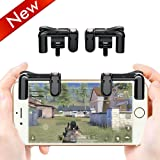 Lanyi Mobile Game Controller PUBG, Sensitive Shoot and Aim Buttons L1R1 for Knives Out/Fortnite/Rules of Survival, 1 Pair Survival Game Controller for 4.5-6.5inch Android IOS Phone(Black)