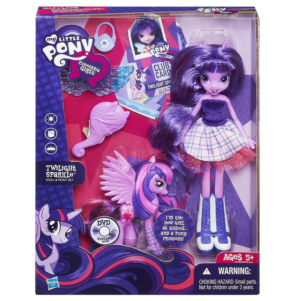 Pony Equestria Girls Twilight Sparkle Doll and Pony Set: Toys & Games