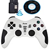 Wireless Controller for PS3 PC Gamepads Game Pad Joystick Remote Game Controller for PC Computer Laptop Notebook PS2 Windows (White) (Color: White)