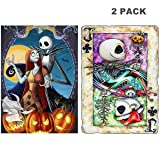 5D Full Drill Diamond Painting Kit, Hartop DIY Diamond Rhinestone Painting Kits for Adults and Beginner, Embroidery Arts Craft Home Office Decor, 12X16 Inch (2 Pack of Jack Skull) (Color: 2 Pack of Jack Skull)