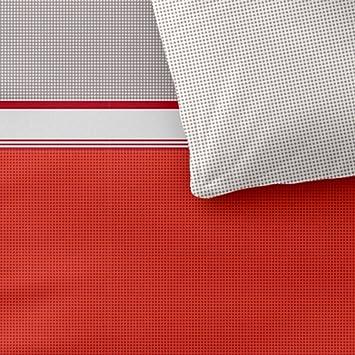 Bettwäsche 135x200 Baumwolle Trend Tabita grau rot orange