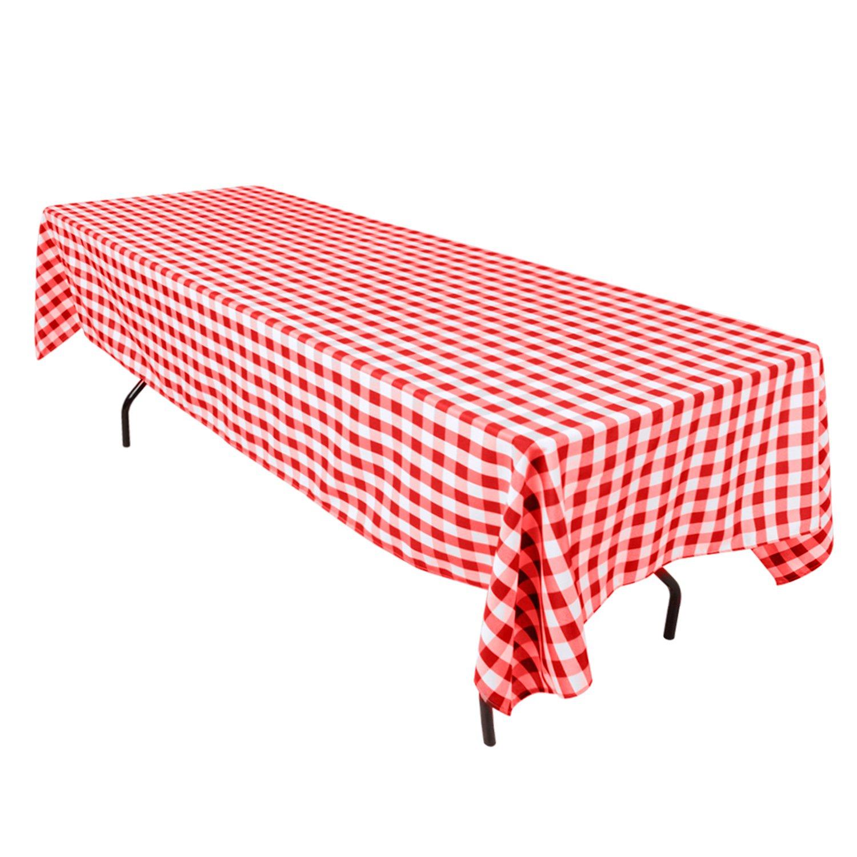 Rectangular Checkered Tablecloth
