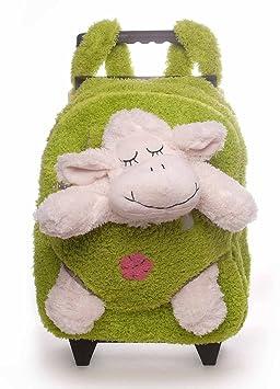 Inware 6231 - 3in1 Petit Trolley Mouton pour les Enfants, Sac à Roulettes, Peluche Mouton