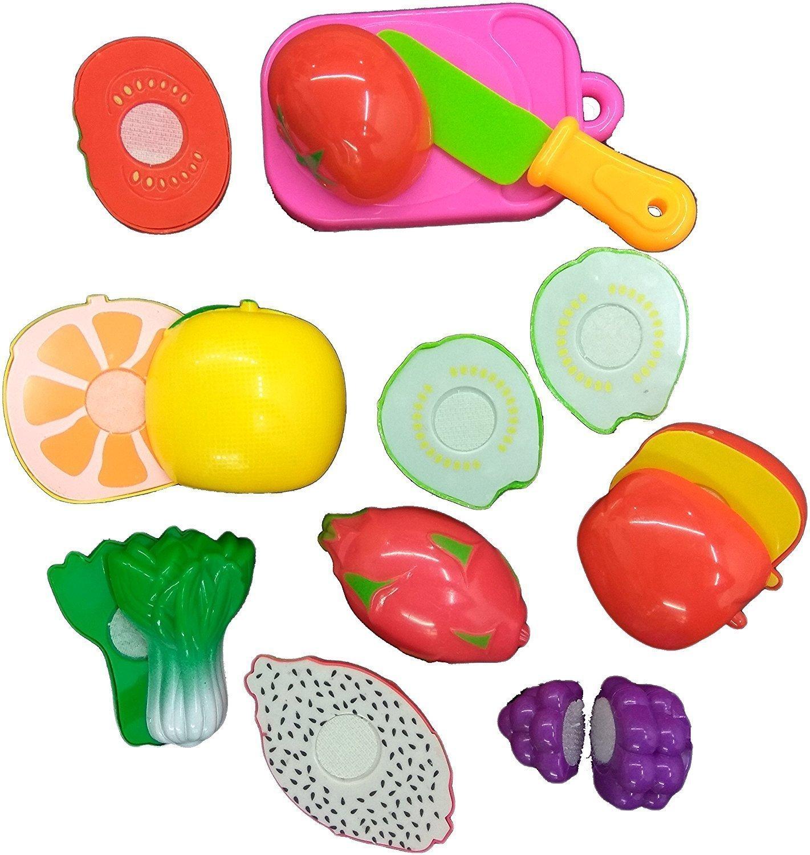 buy little grin food heaven vegetable fruit chopping kit set of 14