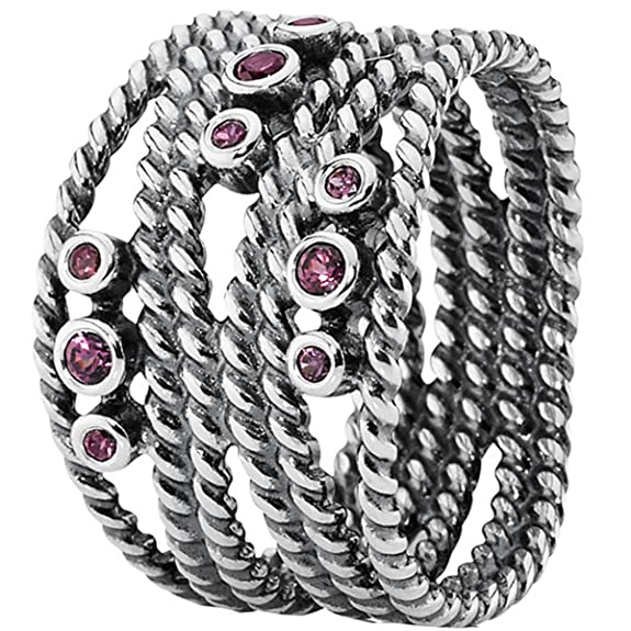 Pandora 190863RHL 925 Sterling Silver Ring pink