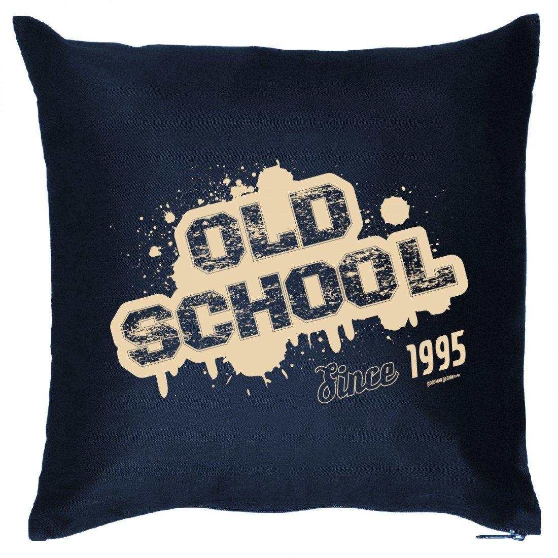 Cooles Couch Kissen mit Jahrgang zum Geburtstag – Old School since 1995 – Sofakissen Wendekissen mit Spruch und Humor online kaufen