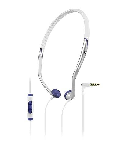 Sennheiser PX 685i - Auriculares de contorno de cuello (control remoto integrado), blanco